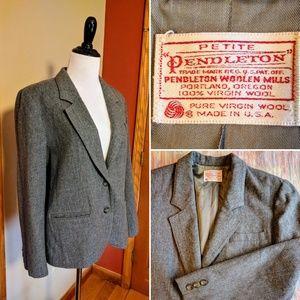 Vintage Pendleton 100% wool made in USA blazer